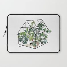 greenhouse with plants Laptop Sleeve by anyuka | Society6