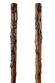 Floral Fallen Wood Cedar Walking Staff. $125.00, via Etsy.