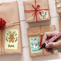 Pegatinas: Kit etiquetas Feliz Navidad Gift Wrapping, Kit, Ideas, Frases, Christmas Window Display, Snowflakes, Merry Christmas, Tags, Stickers