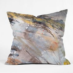 Ginette Fine Art Feathers In The Wind Throw Pillow   DENY Designs Home Accessories
