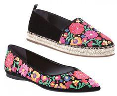 Flores e muito rosa mexicano na sapatilha e alpargata Arezzo inspirada em Frida Kahlo!