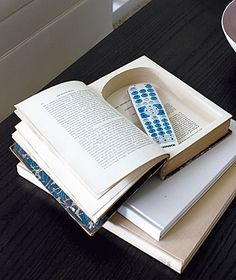 Gotta love this idea! And how many books do we have that we will never read?