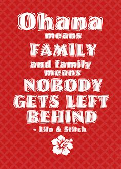 """""""Ohana means family..."""" Lilo and Stitch themed printable FREE"""