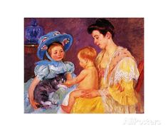 Children Playing with a Cat Art Print