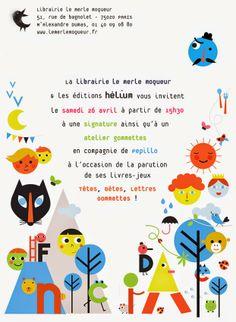 Pepillo (of course I know this is an invitation, but it's so pretty) Book Illustration, Illustrations, 26 Avril, Children's Picture Books, Appliques, Maps, Graphics, Invitations, Graphic Design