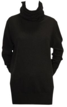 Black Tunic Jumper with Elbow Patches - Joseph  http://www.room7.co.uk/what-s-new/joseph-black-knitwear.html