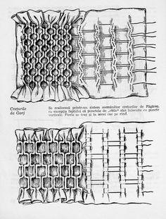 Smocking Tutorial, Smocking Patterns, Dress Sewing Patterns, Skirt Patterns, Blouse Patterns, Coat Patterns, Sewing Coat, Hand Sewing, Folk Embroidery