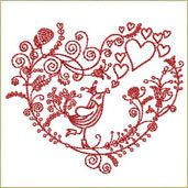Free Machine Embroidery Designs - Sewing - All About Sewing material-fabric-ideas Hand Embroidery Patterns Free, Name Embroidery, Embroidery Hearts, Embroidery Fonts, Embroidery Ideas, Brother Embroidery, Modern Embroidery, Flower Embroidery, Bird Free