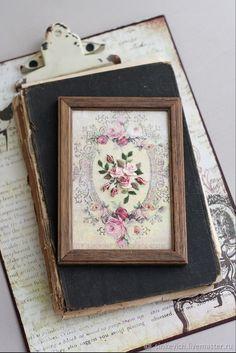 Купить Винтажные цветы - цветы, для дома, картина, панно, подарок, вышивка, ручная работа, Декор