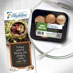 Packaging and print materials for Highline Mushrooms