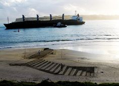 De magnifiques dessins en 3D sur les plages de Nouvelle-Zélande