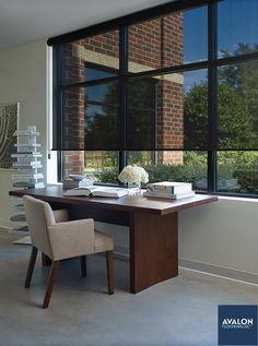 Hunter Douglas Designer Screen Shades | Available at Avalon Flooring | #hunterdouglas #screenshades #windowshades #windowtreatments
