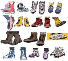 shoes drawing Tutorials Source by coochaki -