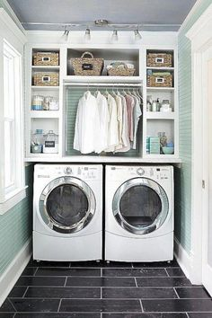 Best 20 Laundry Room Makeovers - Organization and Home Decor Laundry room decor Small laundry room organization Laundry closet ideas Laundry room storage Stackable washer dryer laundry room Small laundry room makeover A Budget Sink Load Clothes Small Laundry Rooms, Laundry Room Organization, Laundry Room Design, Organization Ideas, Laundry Storage, Laundry Shelves, Laundry Nook, Laundry Cupboard, Closet Storage