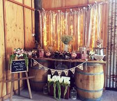 Rustic themed candy bar by Creativlee Events @ Merribee NSW South Coast