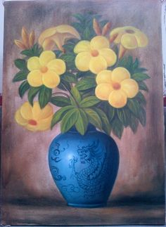 Jual Lukisan Bunga - oil on canvas - 30-70 cm - Rp 450.000-850.000  nego