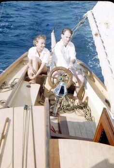 "vintage kodachrome images | Vintage Kodachrome Red Border Slide ""On the Open Sea"" 1950's..Vintage ..."