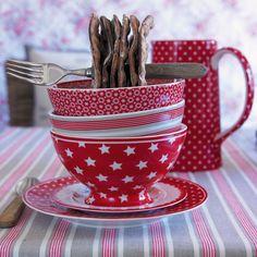GreenGate Soup Bowl Star Red acheter en ligne   Emil & Paula
