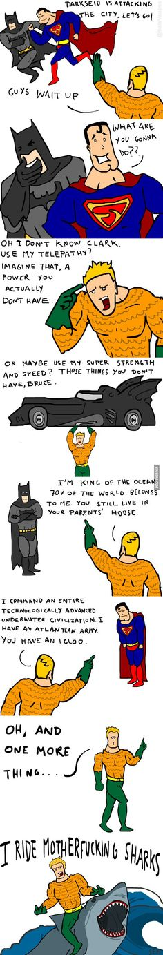 Don't Mess Wth Aquaman! Even Batman Can't Beat Him!
