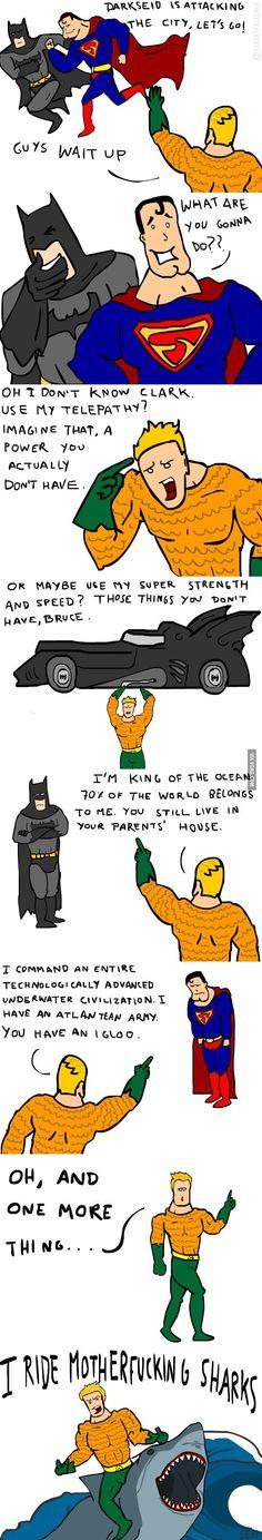 Don't Mess Wth Aquaman! Even Batman Can't Beat Him!