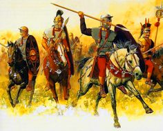 Caesar's Roman cavalry on campaign