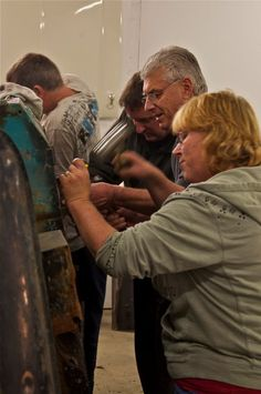 Foreground to background: Andrea Wallace, Russ Pinker, Garry Orton, Lance.  Image: Mike Wilson