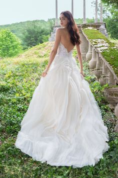 Dress of the Day - Lazaro bridal gown - Ivory textured organza bridal ball  gown b932a58bb63a