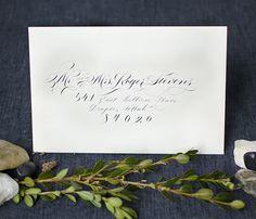 Classic Hand Calligraphed Wedding Invitations by Melissa Esplin / Oh So Beautiful Paper