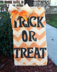 Items similar to Burlap Fall Garden Flag on Etsy Holidays Halloween, Halloween Crafts, Halloween Decorations, Fall Decorations, Halloween Ideas, Happy Halloween, Burlap Yard Flag, Burlap Garden Flags, Burlap Projects