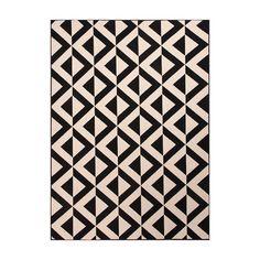 Jaipur Rugs RUG113733 Indoor-Outdoor Durable Polypropylene Ivory/Black Area Rug ( 5.3x7.6 )