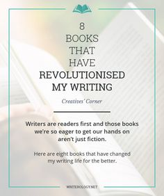 Writers are readers first and those books we're so eager to get our hands on aren't just fiction. If you're looking for books of the writerly variety, look no further. Here are my top eight books for writers. | Writerology.net