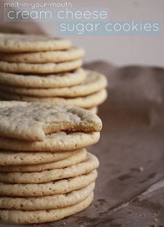 Melt-in-your-mouth cream cheese sugar cookies