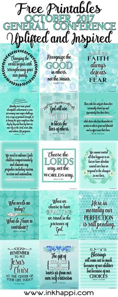 October 2017 General Conference... Uplifted and Inspired! 15 free prints