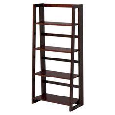 Target Book Shelf dolce 4-shelf bookcase - dark walnut   furniture   pinterest