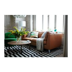 STOCKHOLM Teppich flach gewebt - 250x350 cm, Stripes black / ivory white - IKEA €279