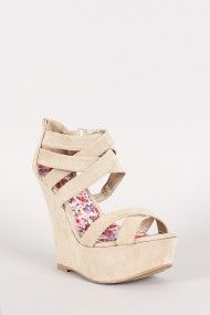 Qupid Finder-228 Strappy Open Toe Platform Wedge #urbanog @UrbanOG