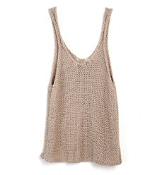Tala Tank Top (in timber wolf) by Wool and the Gang, want this soooo bad Crochet Wool, Crochet Shirt, Summer Knitting, How To Purl Knit, Knitted Tank Top, Knit Fashion, Knit Patterns, Pull, Pretty Outfits