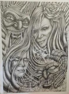 Prison Art By Brian Hernandez Drawing Pencil Sketch ... Aztec Pencil Drawings