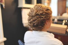 My wedding Hair! Loved the style for naturally curly hair. #weddinghair
