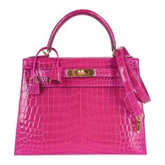 For Sale on - Guaranteed authentic Hermes Kelly 28 bag featured in rich jewel toned Rose Scheherazade Crocodile. Please see the same combination Hermes Birkin 30 listed Hermes Kelly Bag, Hermes Bags, Hermes Handbags, Fashion Handbags, Fashion Bags, Style Fashion, Fashion 2020, Runway Fashion, Birkin 25