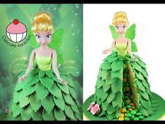 Tinkerbell pinata cake using giant cupcake mould by My Cupcake Addiction Tinkerbell Cake Topper, Tinkerbell Fairies, Tinkerbell Party, Tinker Bell, Aurora Cake, Dolly Varden Cake, Pinata Cake, Giant Cupcakes, Decorated Cupcakes