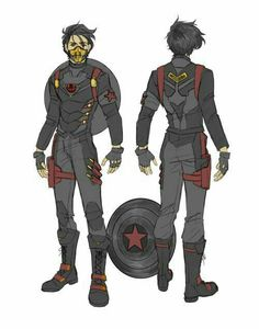 """hello-shellhead: """" Winter Soldier Tony suit design for the collab between and me! Marvel Comics Art, Marvel Heroes, Marvel Characters, Anime Characters, Superhero Suits, Superhero Design, Character Concept, Character Art, Solgaleo Pokemon"""