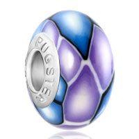 Purple Pale Blue Irregular Fits Beads Charms Bracelets Fit All Brands