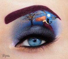 """You will always be in my heart"" - collaboration with Simone Simons.  ♥ Follow me on FACEBOOK : Tal Peleg - Art of Makeup Instagram: tal_peleg 