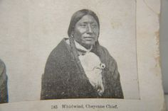 Antique Native American Indian Cheyenne Chief Whirlwind Stereoview Photograph