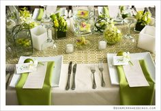 Beautiful tropical decor- Costa Rica wedding