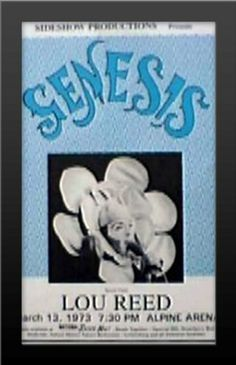Genesis w/ Lou Reed Alpine Arena Live March 1973 11x17 Music Concert Poster Print with Brand New High Quality Wood Frame Buy It Hang It Mypostergallery,http://www.amazon.com/dp/B00893G3I8/ref=cm_sw_r_pi_dp_srnhsb141JE6H0CE