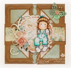 My Handmade Expressions: Can't Stop Thinking About You (Napkin Fold Card)