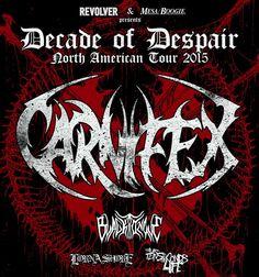 CARNIFEX Announces Tenth Anniversary Tour With BLACK TONGUE, LORNA SHORE, Etc.