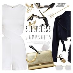 """all-in-one: sleeveless jumpsuits"" by jesuisunlapin ❤ liked on Polyvore featuring 3x1, TIBI, Elle, Zoya, Christian Dior, Michael Kors, STELLA McCARTNEY, Marc Jacobs, Heels and metallic"